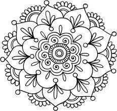 Mándalas para Colorear de Flores de Loto (8)