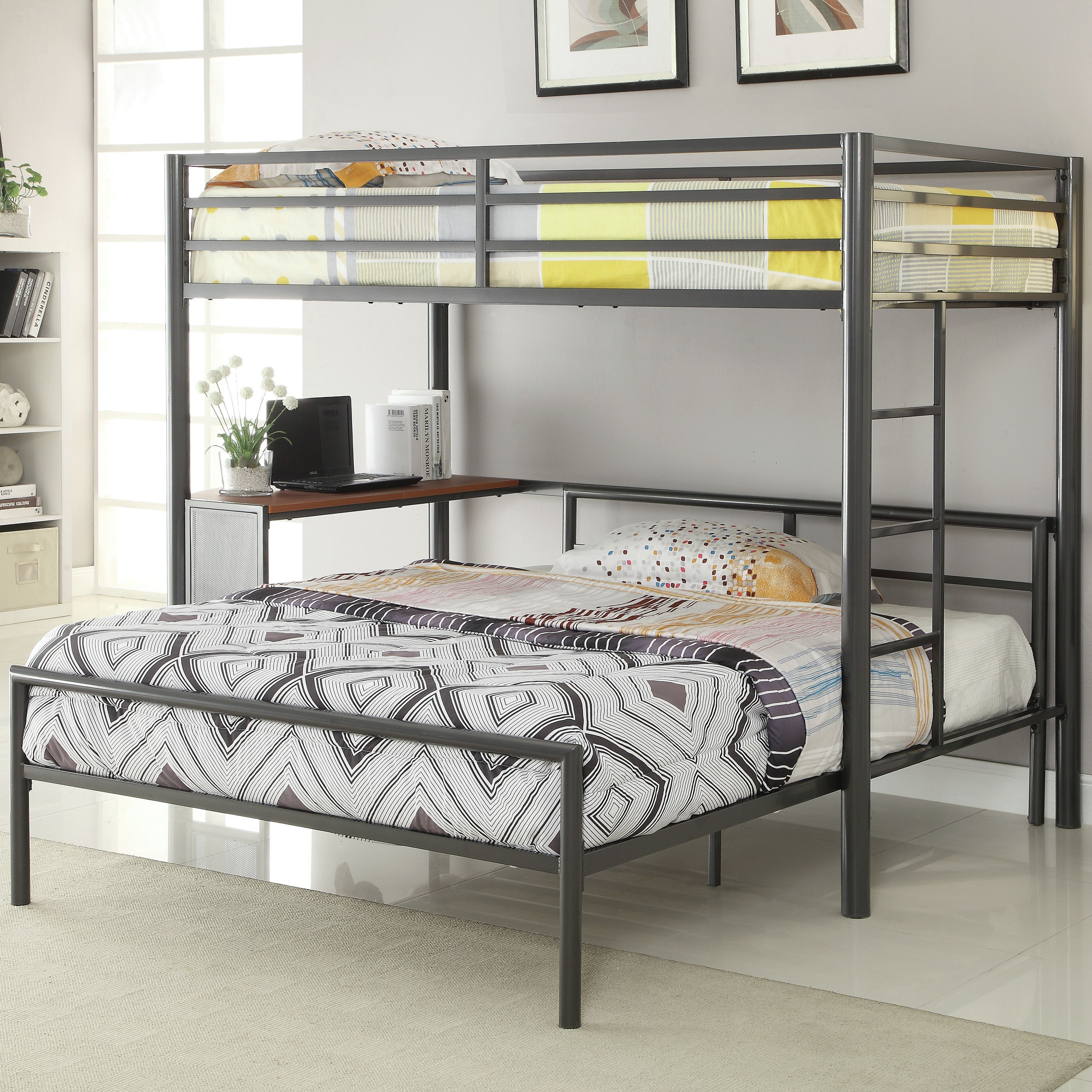 Wildon Home Reg Twin Over Full L Shaped Bunk Bed Bunk Bed With