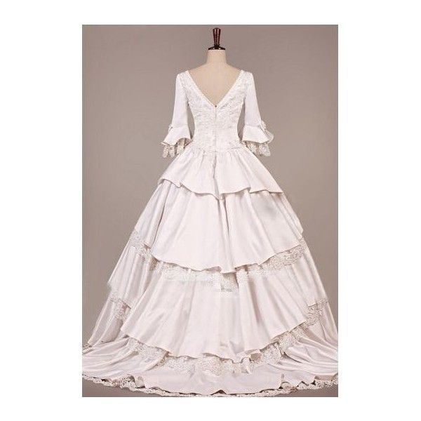 Vintage Victorian Wedding Dress ❤ liked on Polyvore featuring ...