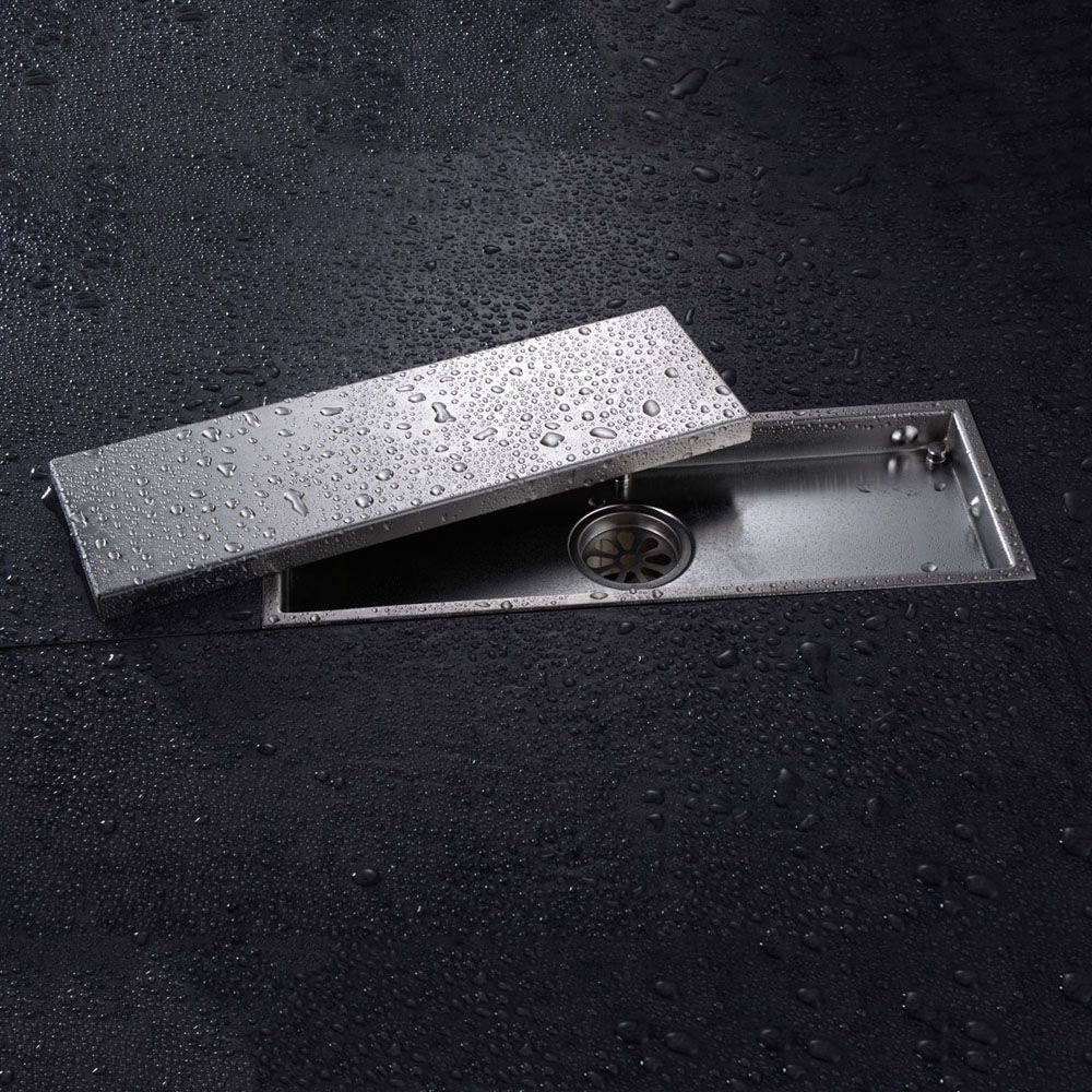 Promo Free Shipping 304 Solid Stainless Steel 300 X 110mm Square Anti Odor Floor Drain Bathroom Square Shower Drain