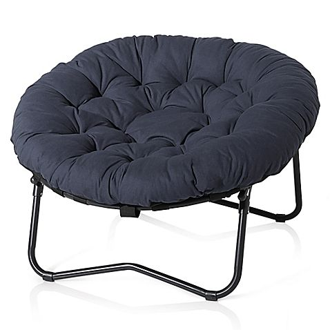 Relax In Style In The Foldable Oversized Papasan Chair. The Oversized  Polyester Cushion Sits On Matte Black Metal Frame And Supports You In  Luxurious ...
