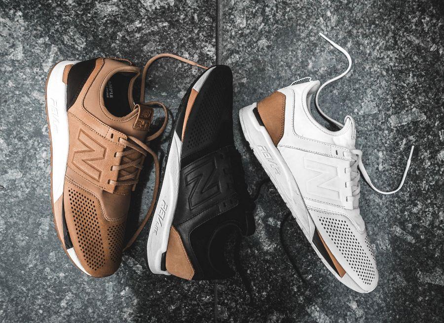 new balance blanche et marron