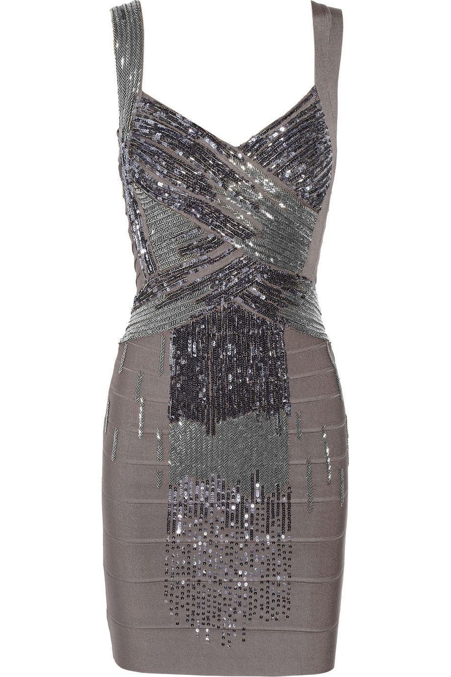 Embellished bandage dress by hervé léger x aniversario glamour