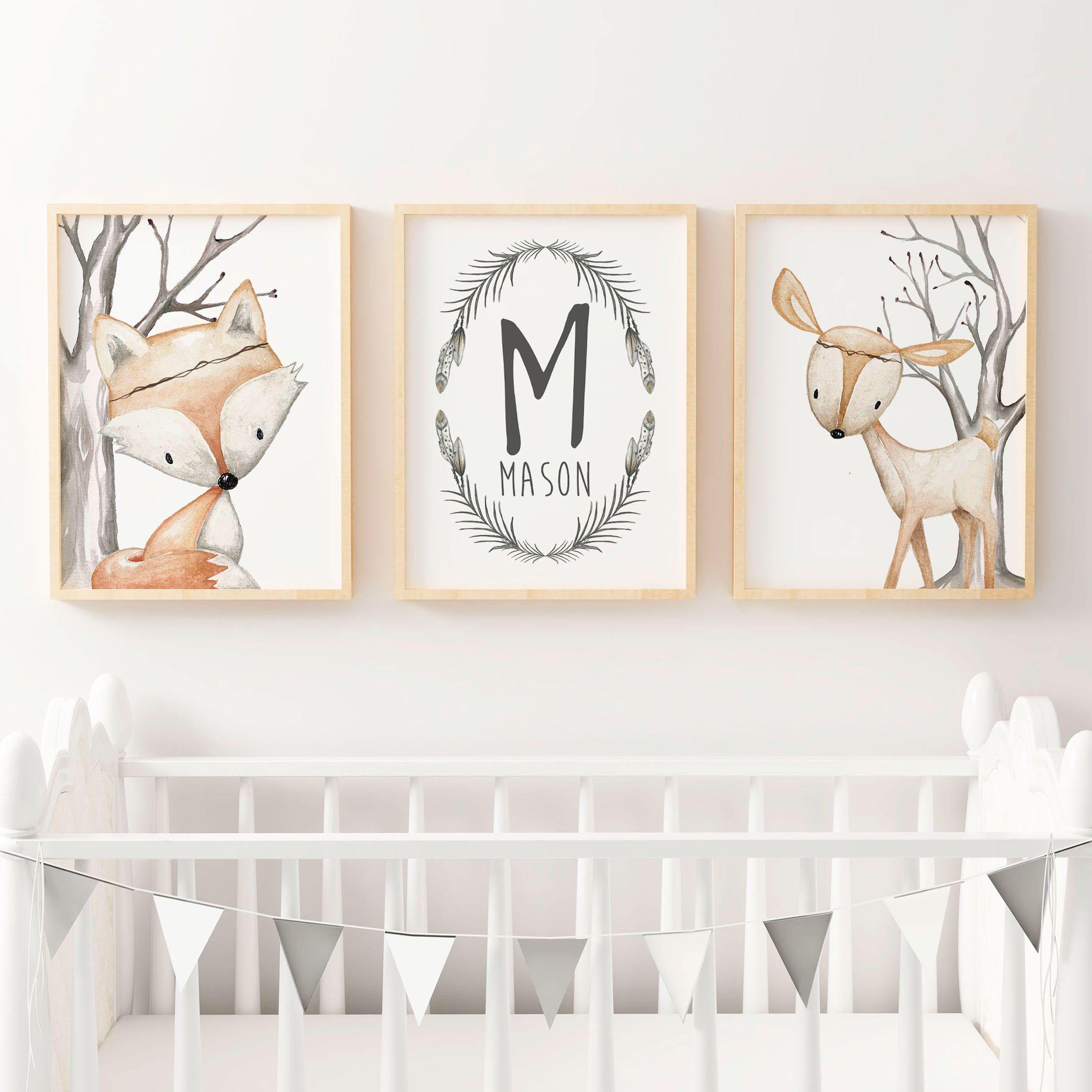 Woodland Nursery Prints