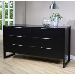 Catalina 6 Drawer Chest Black Size 5 Drawer