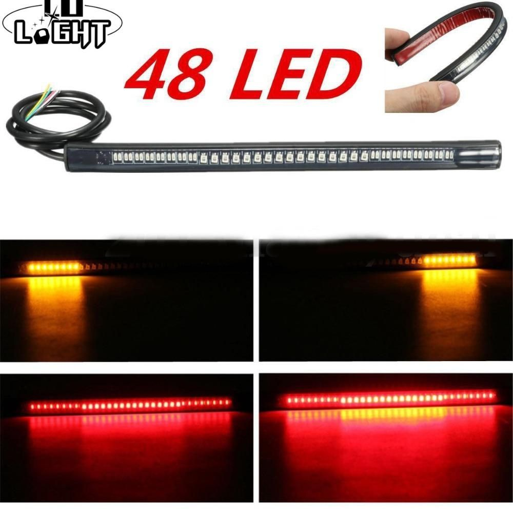 Flexible Led Strip 48 Leds Stop Light Motorcycle Auto Turn