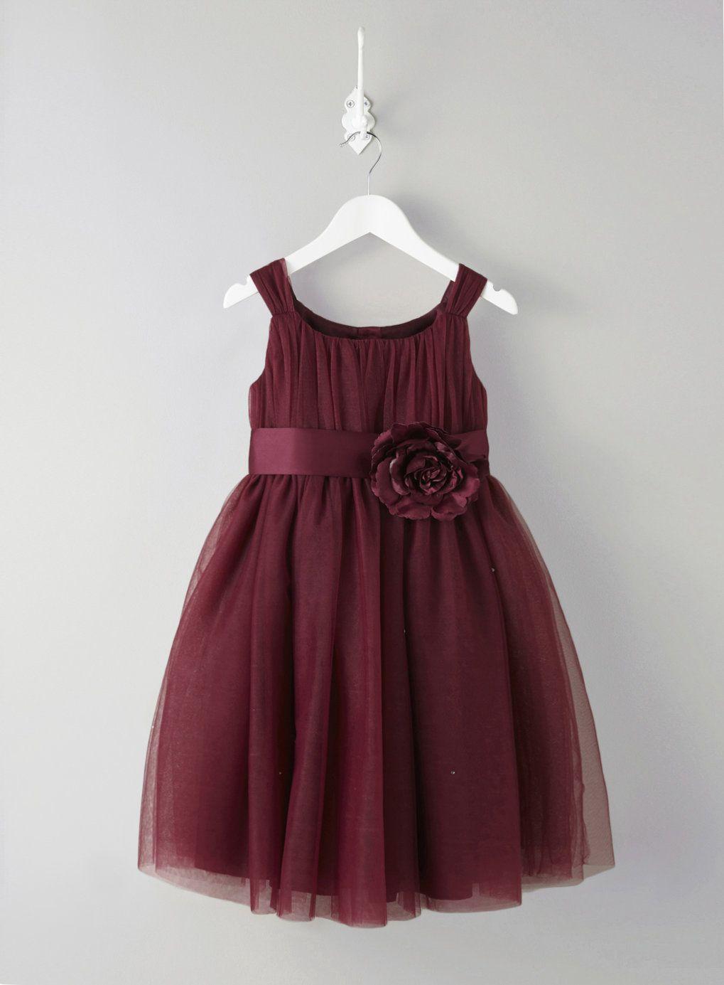 Lola Merlot Flower Girl Dress  Flower girl dresses, Burgandy