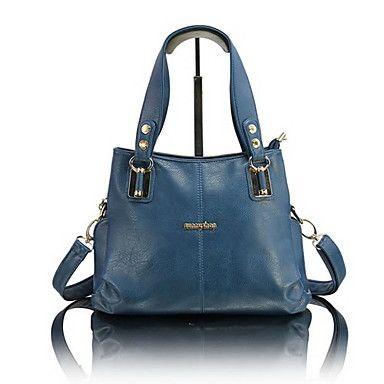 Fashion Candy Color Stylish Tote/Crossbody Bag
