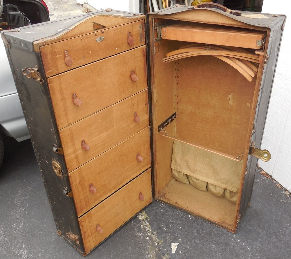 Vintage DOCTORS MD PAT.1903-1912 INNOVATION Steamer Trunk Suitcase ...