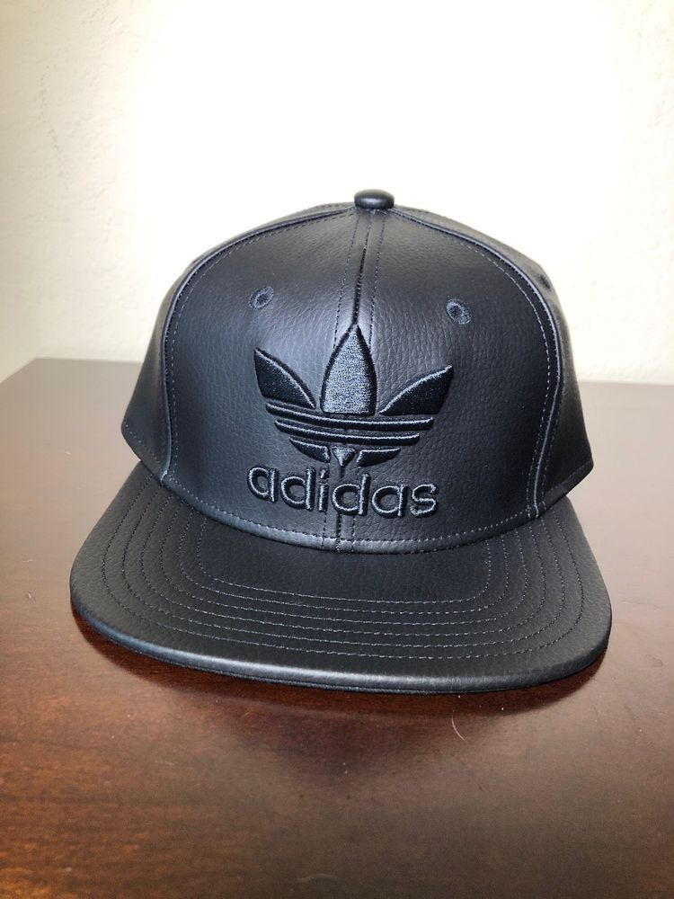 4421aa12 Men's Adidas Originals Faux Leather Trefoil Snapback Cap - One Size fits  all #fashion #clothing #shoes #accessories #mensaccessories #hats (ebay  link)