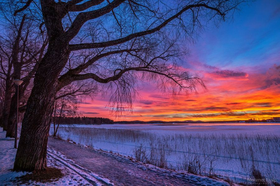 Winter sunset by on deviantART