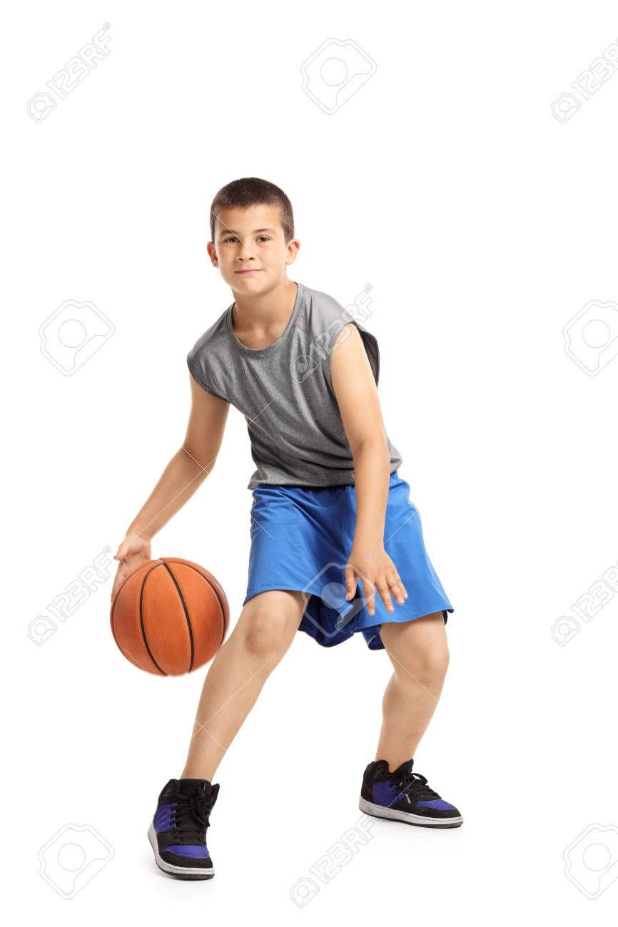 Full Length Portrait Of A Kid Playing With A Basketball Isolated On White Background Ad Portrait Kid Full Length Kids Playing Portrait Full Length