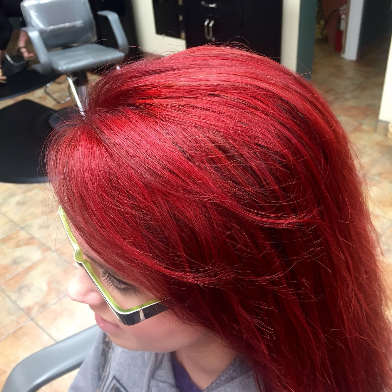 Fire Engine Red Hair Color I Did It Was A Process Well Worth It