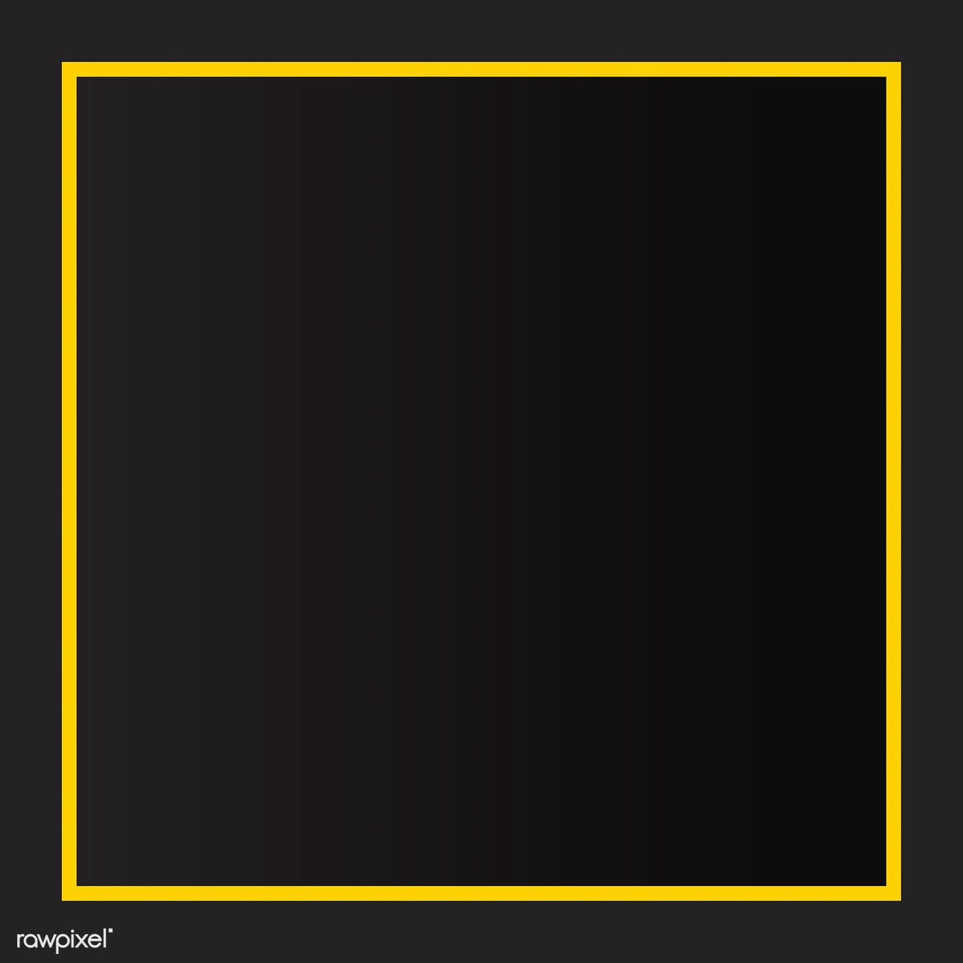Download Premium Vector Of Yellow Border Black Background Vector 1217009 Black Backgrounds Black Background Design Black Background Wallpaper