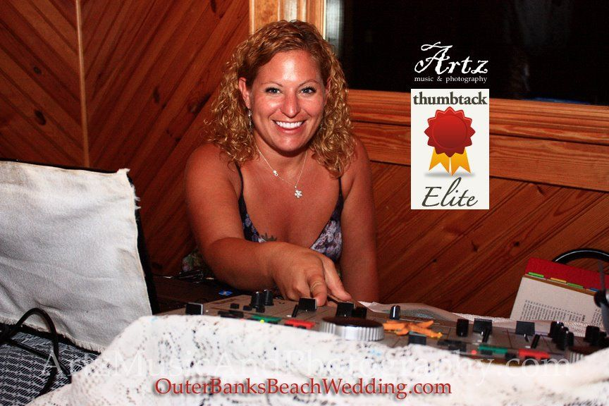 Sue Artz is an award-winning classically trained concert violinist with more than three decades of experience. She was also recently named Most Popular DJ in the Region by Thumbtack.com! Learn more about Sue Artz at http://affordableobxweddings.com/music
