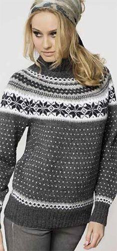 58ae7929 Mønster til Nancy-genser | Knitting | Genser, Strikkeoppskrift ...