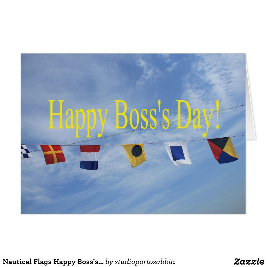 Nautical Flags Happy Bosss Day Card Shared Board For Greeting
