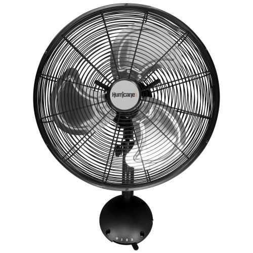 Hurricane Pro High Velocity Oscillating Metal Wall Mount Fan 16 In Hurricane Fans Wall Mounted Fan Wall Mount Wall Fans