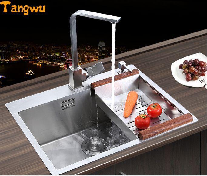 Free Shipping Manual Single Groove Vegetable Washing Basin Pots