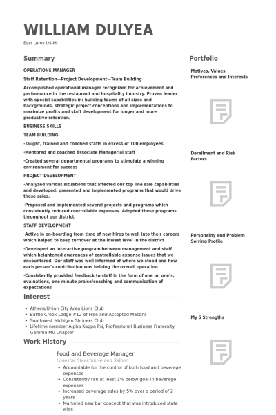 Food And Beverage Manager Resume Fresh Food And Beverage Manager Resume Source