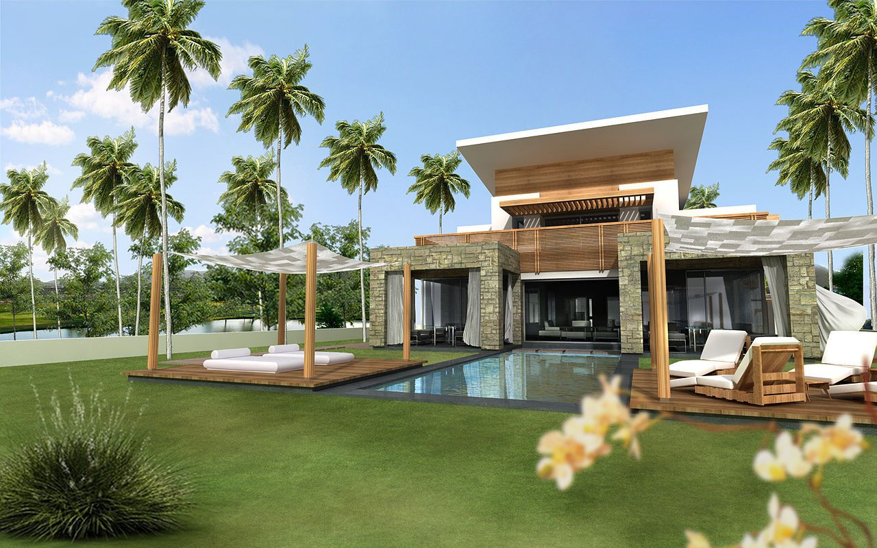 Model rumah mewah bernuansa villa http www for Modern house villa