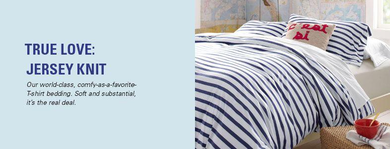 Garnet Hill Jersey Duvet Covers and Jersey Comforter Covers. Soft, Substantial Comfy-as-a-T-Shirt Jersey Duvet Covers.