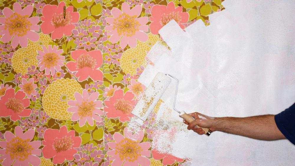 Papier peint à peindre : technique et pièges à éviter | Peindre du papier peint, Papier peint ...