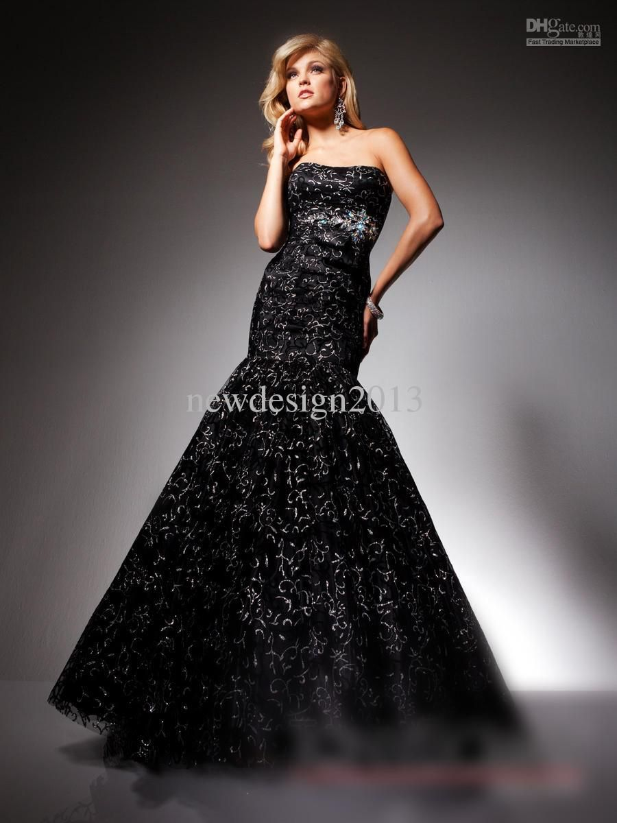 Wholesale luxury overall silver emboidery trumpet mermaid occasion