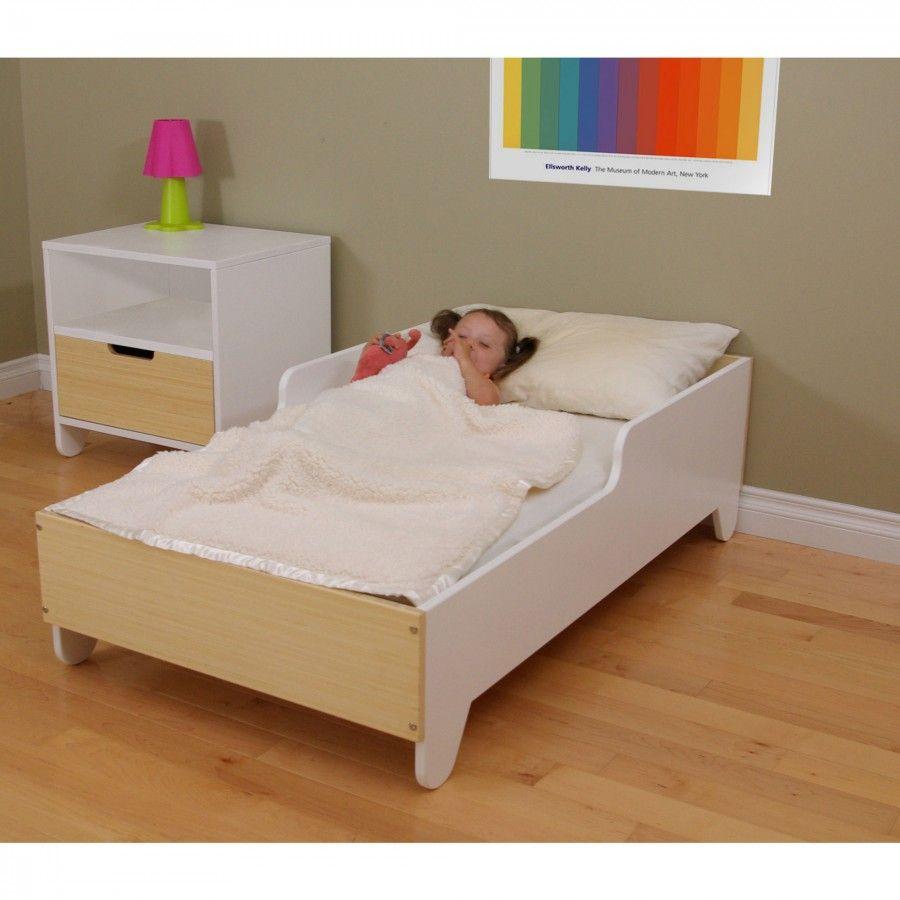 Bedroom Furniture Spot spot on square hiya toddler bed in birch / white - hs07002 - birch