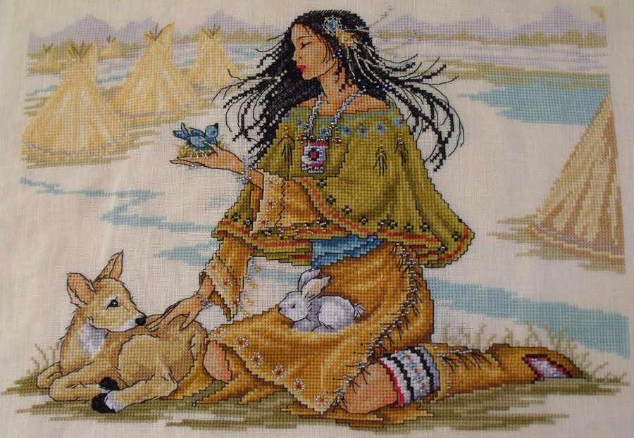 Free Native American Cross Stitch Patterns And Designs Indian