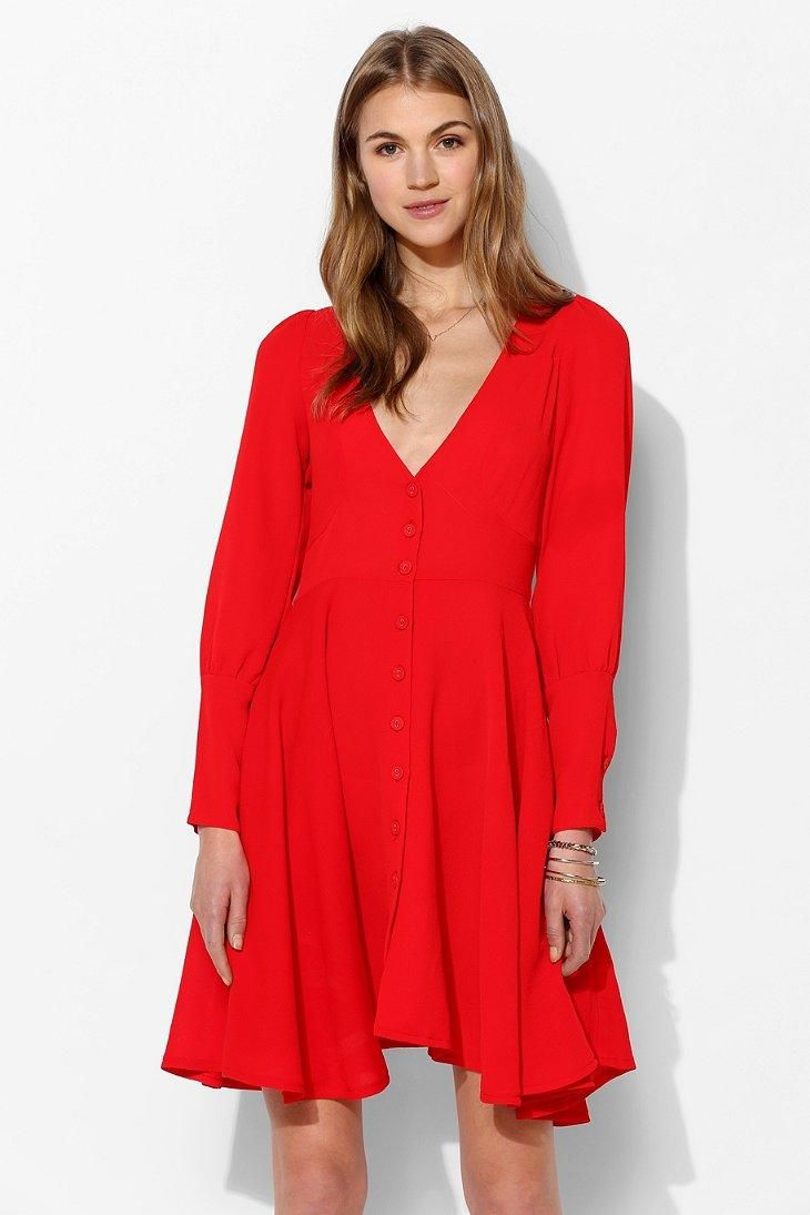 887ee3a158d1 FAMILY AFFAIRS Elton Crepe Dress  urbanoutfitters Valentine s Day Outfit