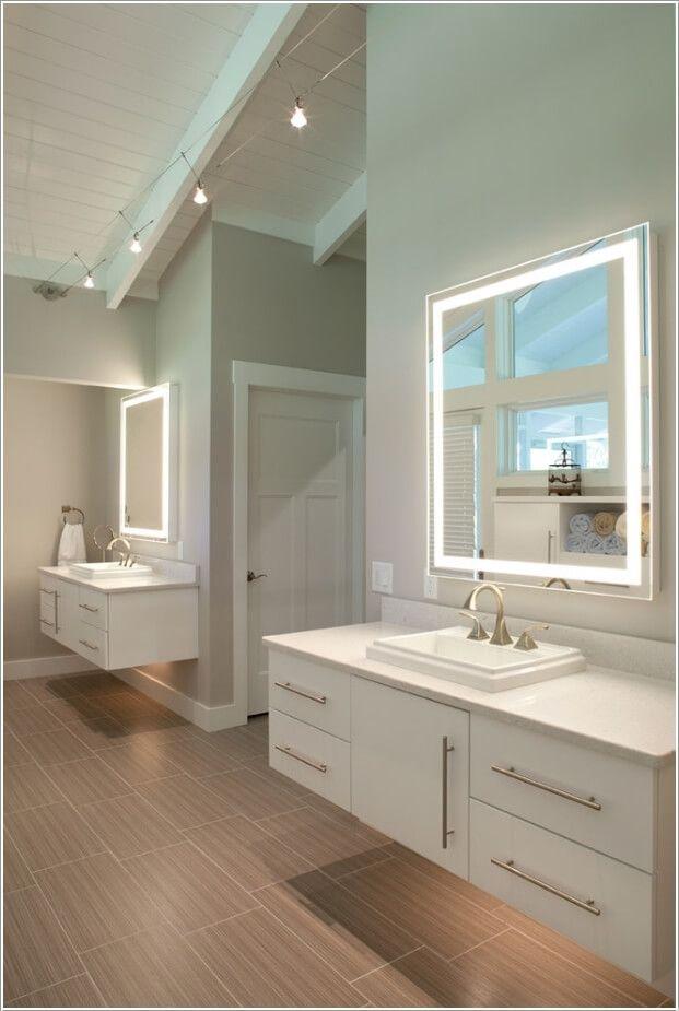 10 Chic Bathroom Vanity Lighting Ideas Phong Tắm Nhỏ Trang Tri