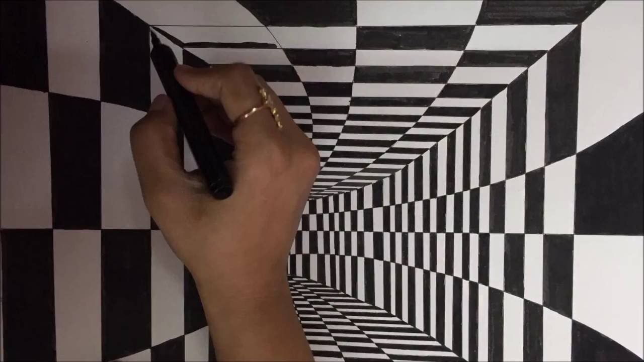 How To Draw 3d Art Tunnel Drawing This Is An Hd Quality Video