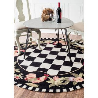 nuLOOM Hand-hooked Moroccan Rooster Checkered Wool Rug (3'6 x 5'6) | Overstock.com Shopping - The Best Deals on 3x5 - 4x6 Rugs