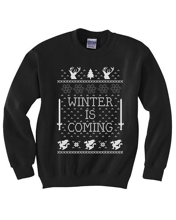 winter is coming christmas sweater winter is coming ugly game of thrones sweater jon snow ugly christmas sweater got christmas