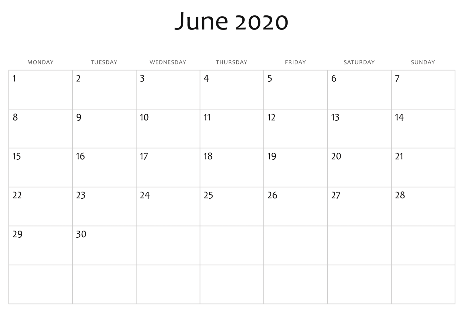 Print June 2020 Calendar Excel Sheet Free Printable Calendar In 2020 Excel Calendar Free Printable Calendar Printable Calendar
