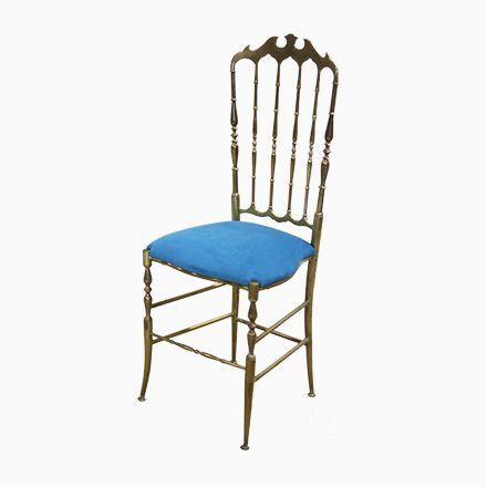Italienischer Vintage Chiavari Stuhl mit Hoher Rückenlehne, 1950er - esszimmer italienisch