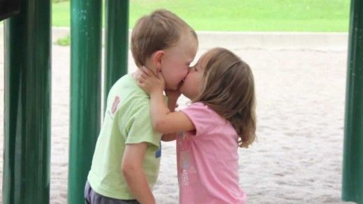 Kids First Kiss At The Playground First Kiss Video Funny Gif