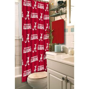 University Of Alabama Decorative Bath Collection Shower Curtain