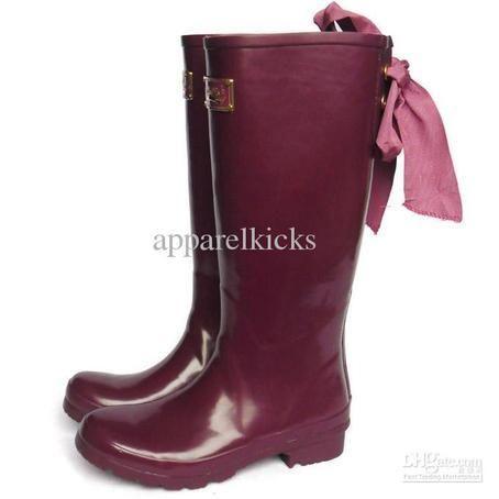 maroon rain boots with bows | WHOLESALE ROCKFISH WOMEN'S RAIN ...