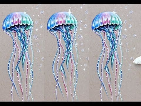 15 26 Iridescent Jellyfish Drawing Tutorial Prismacolor Pencils