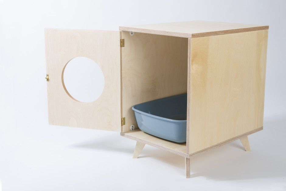 Plywood Cat Litter Box Cabinet Juno By Black Velvet Made In Estoniaop Crowdyhouse