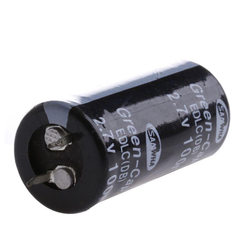 2 Pcs Super Farad Capacitor 2 7 V 100f Ultra Capacitor Novo Electronics Hacks Capacitor Electronics Workshop