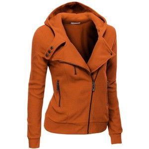 Doublju Womens Zip-up Hood Jacket in Fine Stretch Cotton | идеи ...
