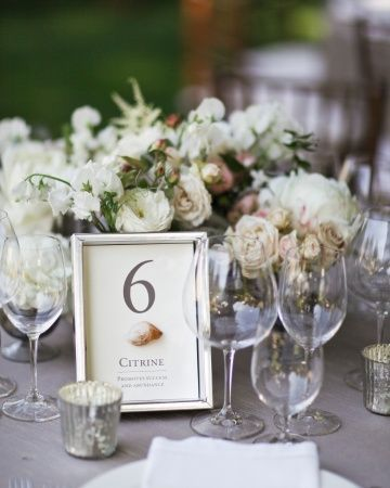 30 Amazing Wedding Table Name Ideas Gem Stones Chwv