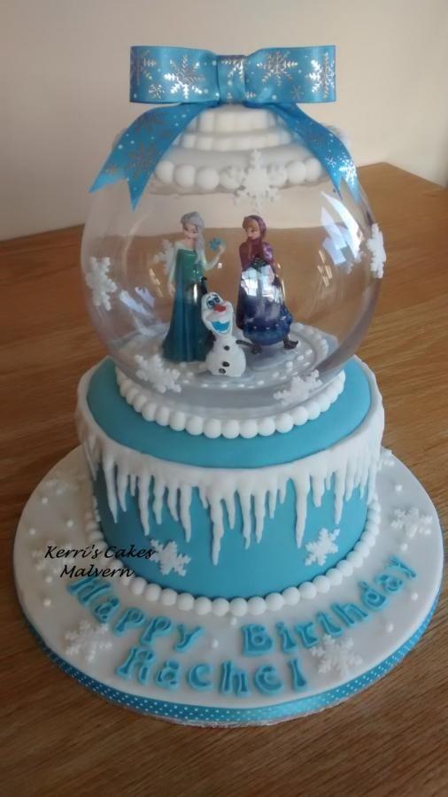 snow globe cakes | Frozen snowglobe - Cake by Kerri's Cakes - CakesDecor