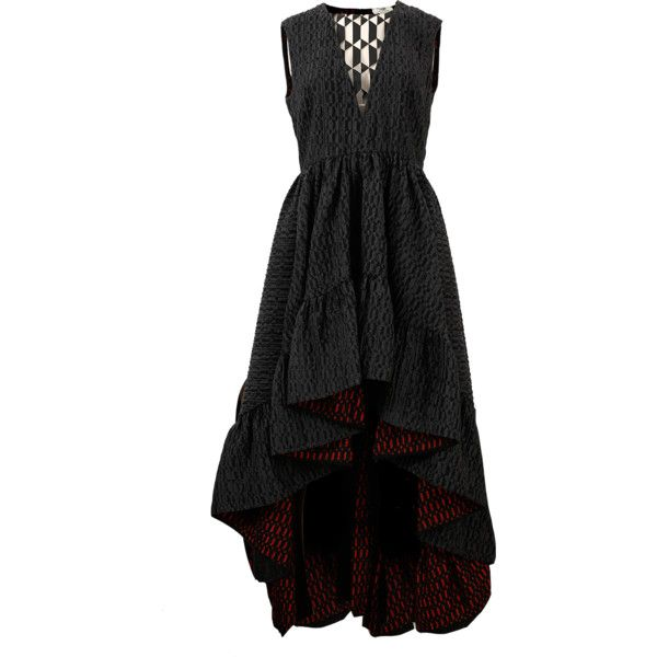 Fendi High Low Plunging Gown ($3,750) ❤ liked on Polyvore ...