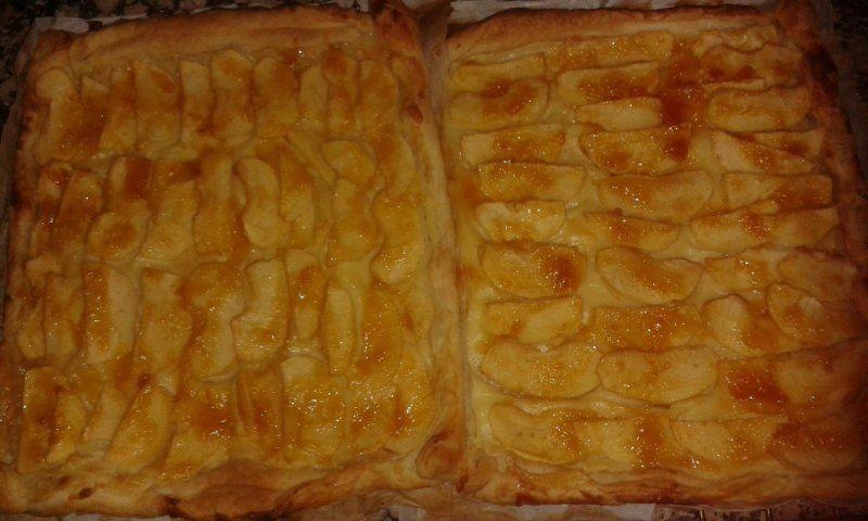 Cerotenedores - Tarta de manzana con crema
