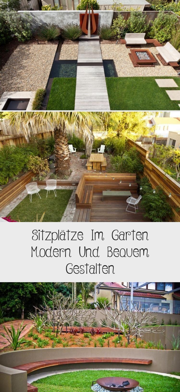 Modernes Gartendesign Mit Versunkener Flache Und Kamin Gartengestaltu In 2020 Garten Design Garten Sitzplatz Im Garten