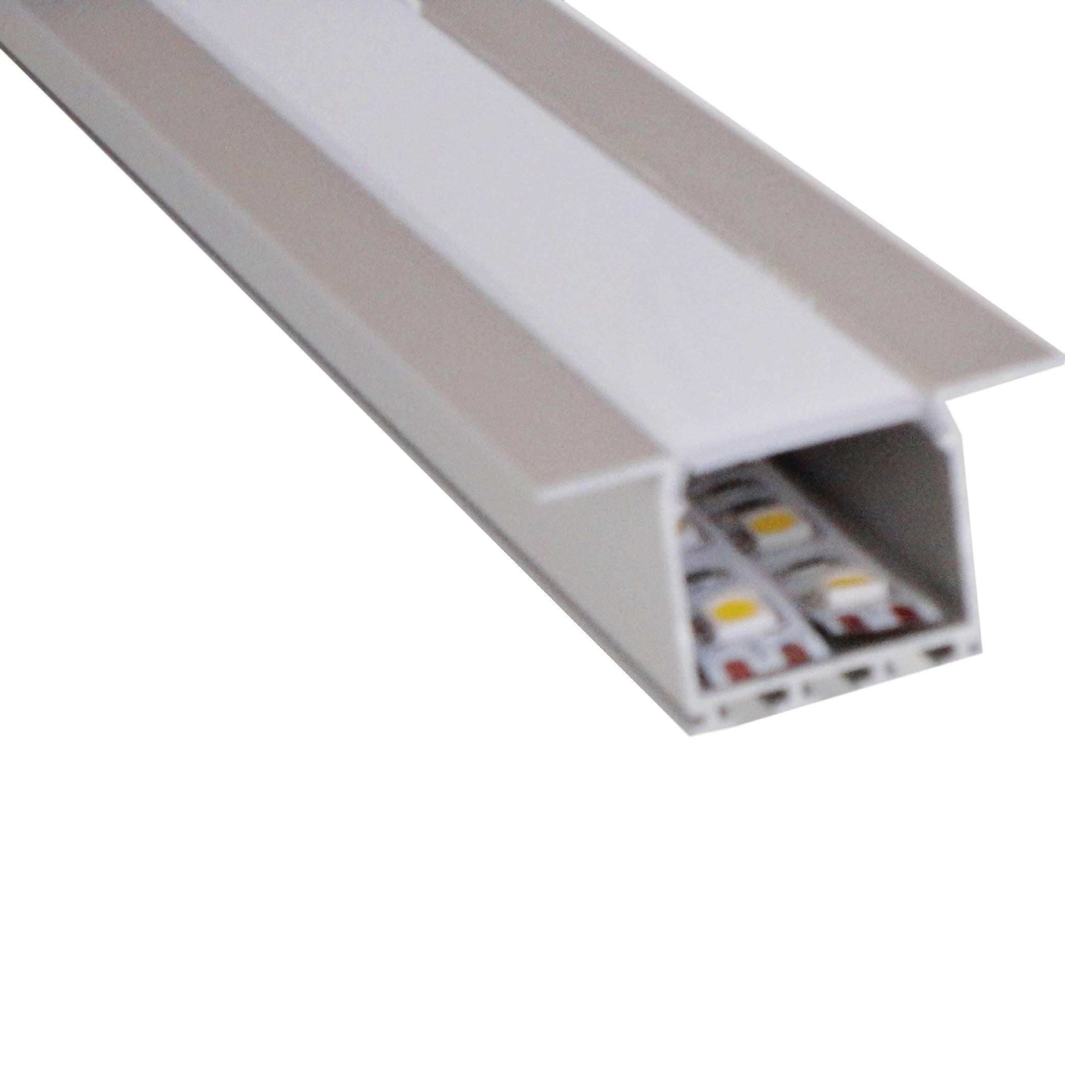 Perfil de Aluminio empot. Standard Anodizado x 2m
